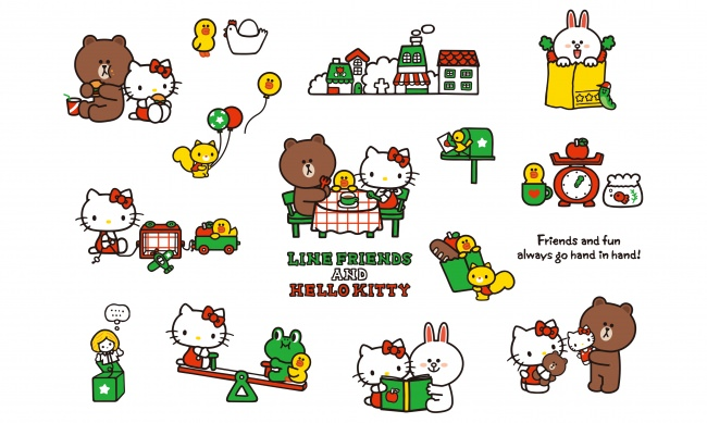 LINE FRIENDS&HELLO KITTY